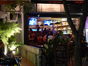 Racks Bar & Baby Backs, Restaurant (specialized in pork ribs) and bar on Changkat Bukit Bintang.
