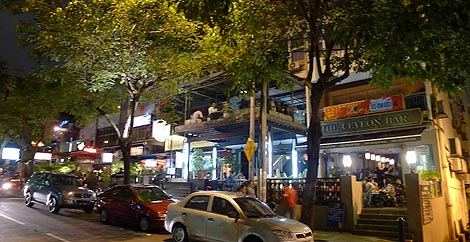 location of The Ceylon Bar on Changkat Bukit Bintang
