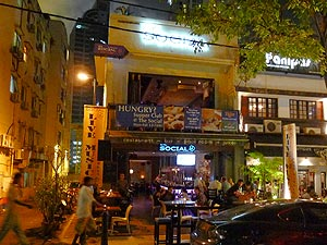 The Social, Restaurant (western and asian food) and bar with live music on Changkat Bukit Bintang