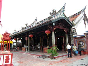 Cheng Hoon Teng Temple, Cheng Hoon Teng is the oldest traditional Chinese temple (Taoist temple) in Malaysia. The temple was built in 1645 (and extented in 1704 and 1801) and served as the main place of worship for the Hokkien community.