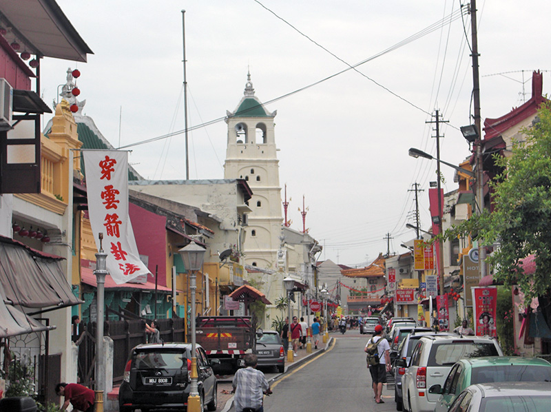 Harmony Street, Jalan Tokong Besi in Chinatown is also called Harmony Street because Temples and Mosques of the three main religions of Malaysia are located peacefully in the same small street.