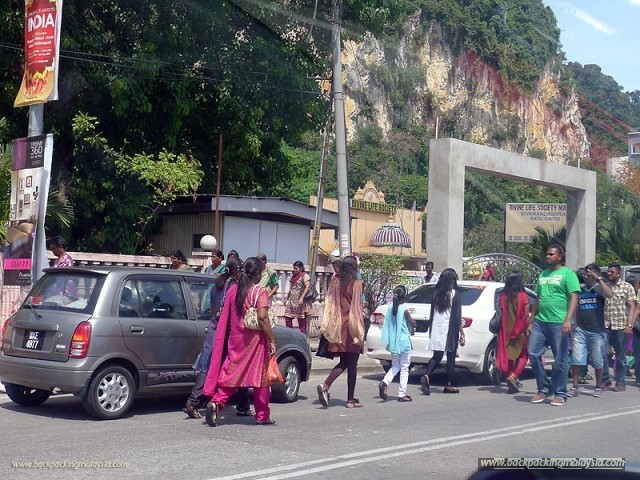 On the way to Thaipusam