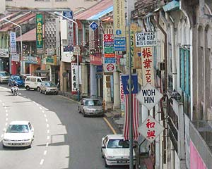 Chinatown, Georgetowns large Chinatown, dotted with temples, mosques, markets and traditional shop houses, is interesting to walk around at any time of the day. It is centered on Lebuh Chulia