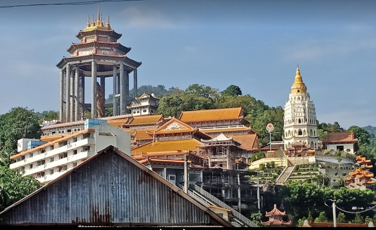 Kek Lok Si (Buddhist) Temple, Largest Buddhist temple in Malaysia. Construction started in 1893 and took over 20 years to complete but new sections keep being added