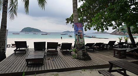 sun bathing deck,Redang Pelangi Resort